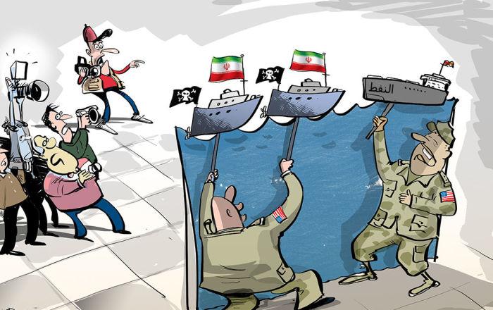 حسب أمريكا: وراء كل مصيبة هرمز إيران