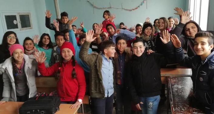 درس لغة روسية في إحدى المدارس الريفية