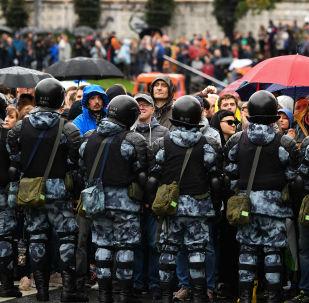 من احتجاجات المعارضة وسط موسكو