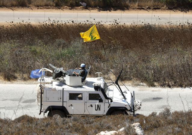 علم حزب الله، الأمم المتحدة، جنوب لبنان، الجنوب اللبناني، 2 سبتمبر 2019