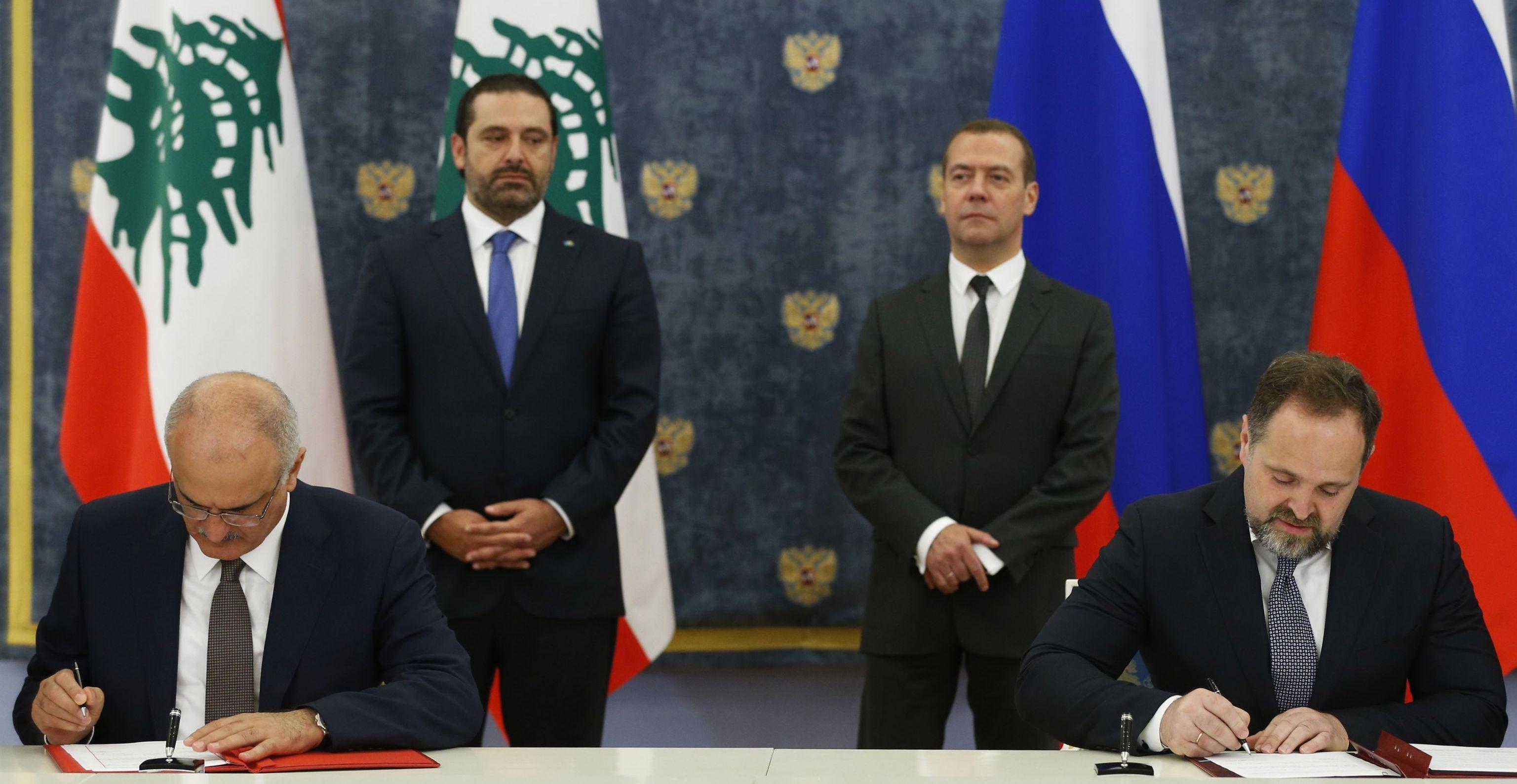 توقيع اتفاقات بين لبنان وروسيا