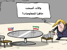 ترامب يكذب وزير خارجيته بشأن استعداده للقاء الرئيس الإيراني دون شروط مسبقة