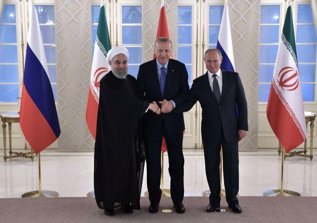 القمة الثلاثية في أنقرة بين بوتين وأردوغان وروحاني