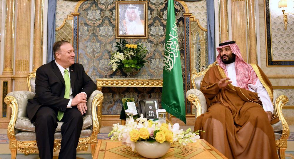 ولي العهد السعودي محمد بن سلمان يستقبل وزير الخارجية الأمريكية مايك بومبيو في الرياض