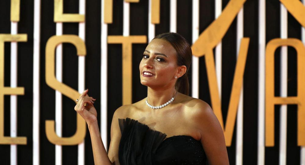 الفنانة المصرية بشرى بمهرجان الجونة السينمائي الثالث