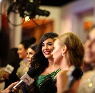الممثلة المصرية ياسمين صبري في مهرجان الجونة السينمائي 2019