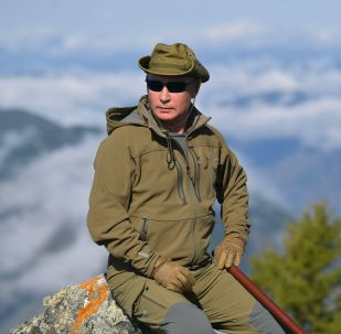 الرئيس الروسي فلاديمير بوتين خلال عطلته في سيبيريا