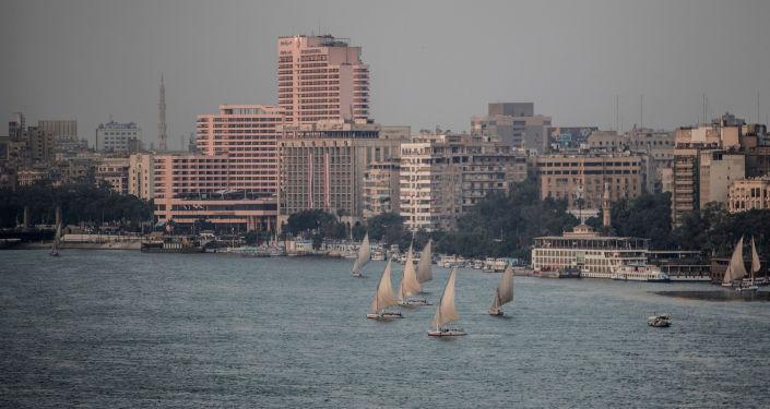 النيل في القاهرة مصر