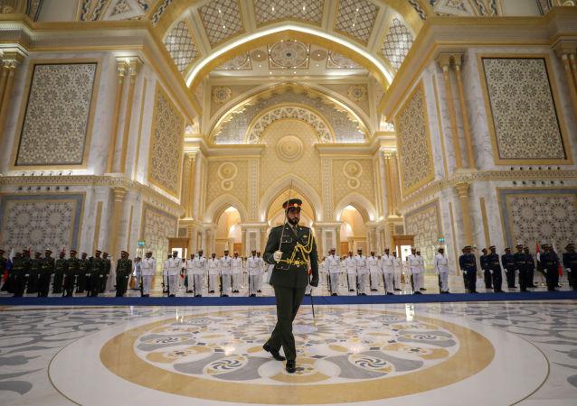 مراسم استقبال الرئيس الروسي فلاديمير بوتين إلى الإمارات العربية المتحدة، 15 أكتوبر 2019