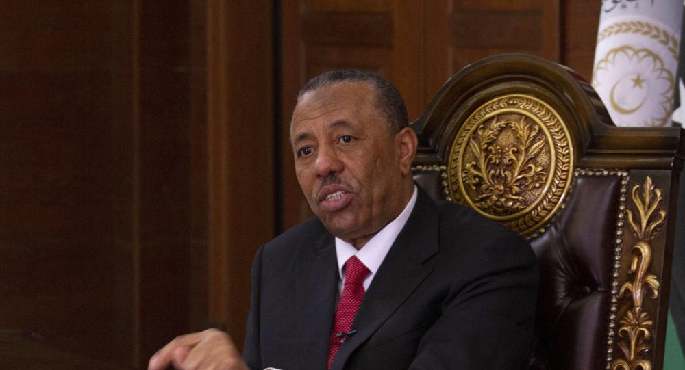 رئيس الحكومة الليبية المؤقتة عبد الله الثني