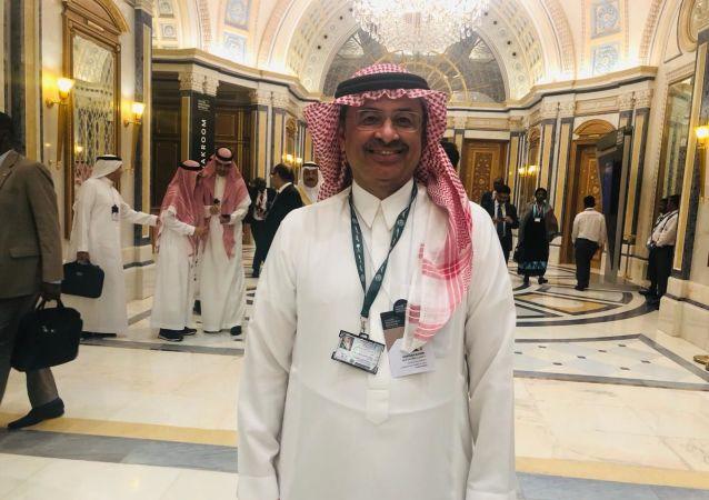 غسان الشبل رئيس مجلس إدارة هيئة المحتوى المحلي والمشتريات الحكومية ورئيس مجلس إدارة الخطوط السعودية، الرياض، 29 أكتوبر/تشرين الأول 2019