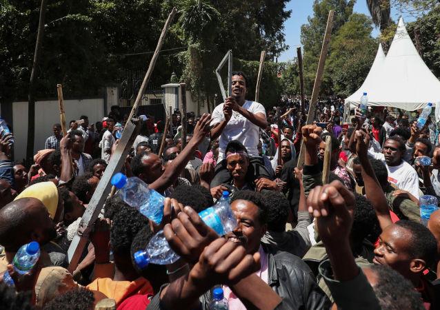 احتجاجات إثيوبيا