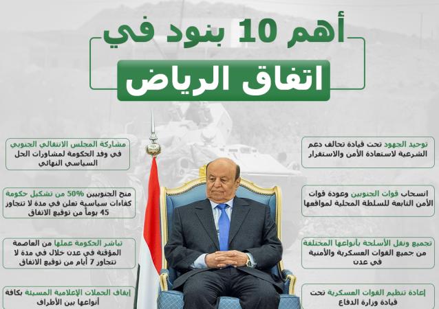 أهم 10 بنود في اتفاق الرياض