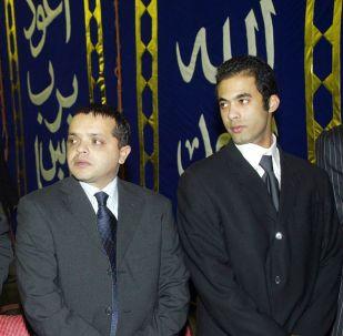 الفنانان المصريان هيثم أحمد زكي ومحمد هنيدي