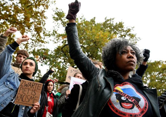 احتجاجات ضد تقليد بيت الأسود في هولندا، 16 نوفمبر/تشرين الثاني 2019