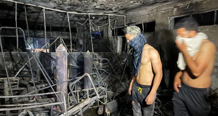 ارتفاع حصيلة ضحايا حريق مستشفى ابن الخطيب في بغداد إلى 58