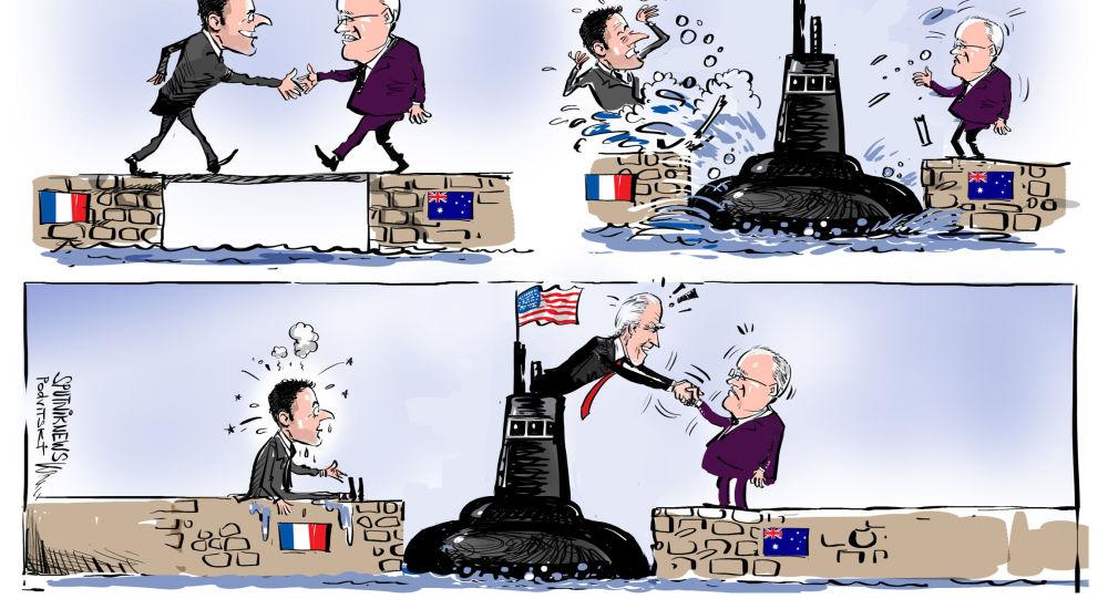 فرنسا لن تحتفل مع أمريكا ردا على إلغاء صفقة الغواصات