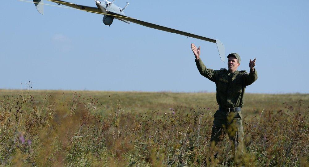 إطلاق طائرة بدون طيار