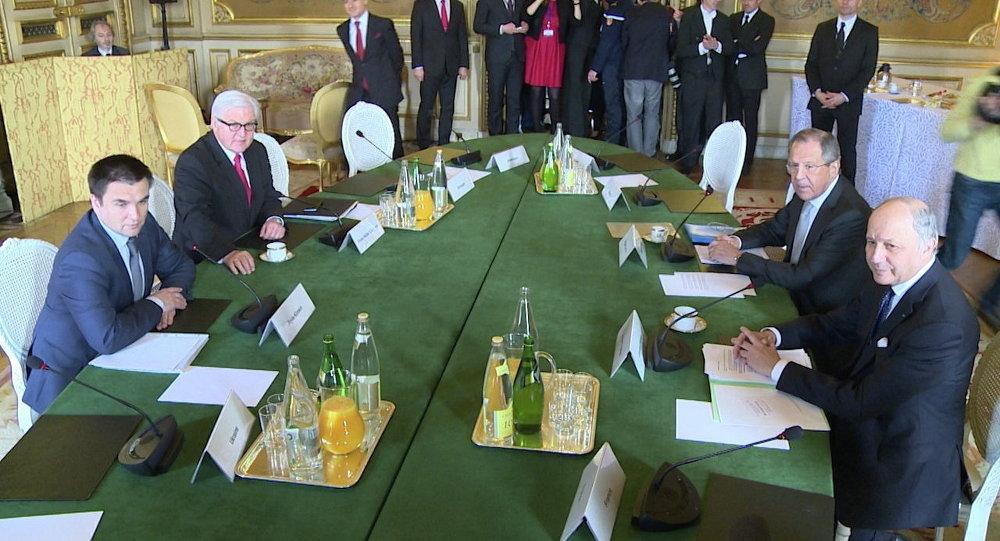 اجتماع وزراء خارجية رباعية النورماندي (24/2/2015)
