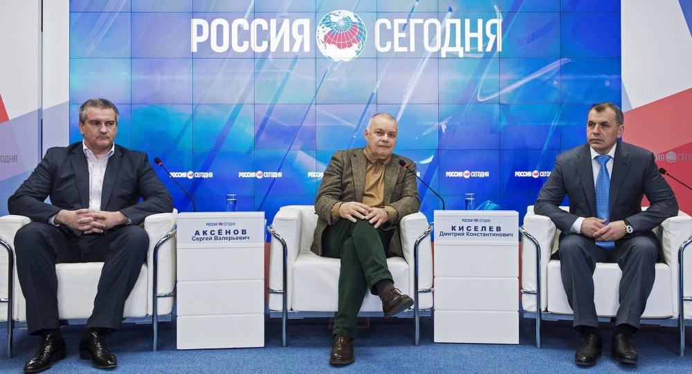 Opening of Rossiya Segodnya's Press Center in Simferopol