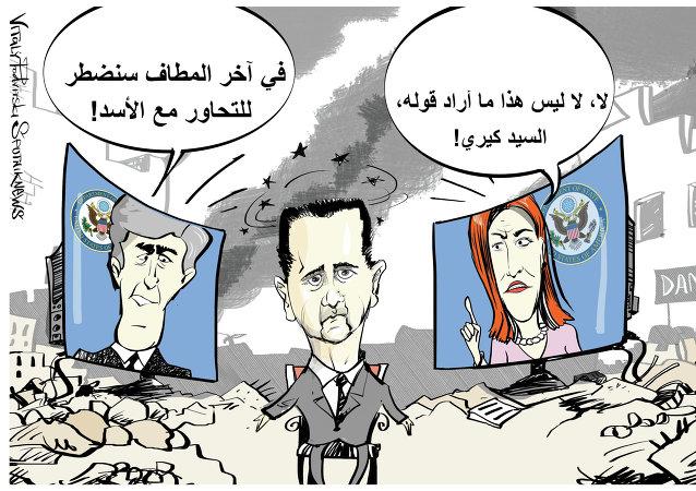 تصريحات كيري حول التحاور مع الأسد