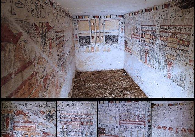 اكتشاف مقبرتين أثريتين لكاهنين جنوب منطقة سقارة الأثرية