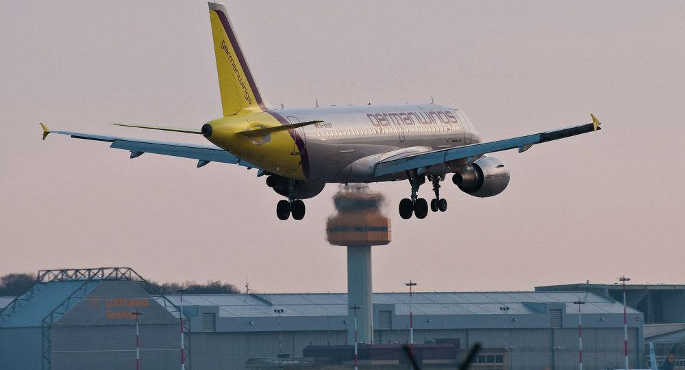 طائرة إيرباص في مطار هامبورغ
