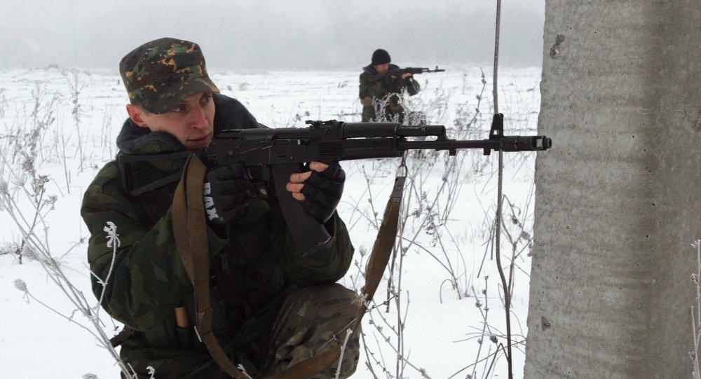 دونباس: تدريب وحدات الدفاع الشعبي