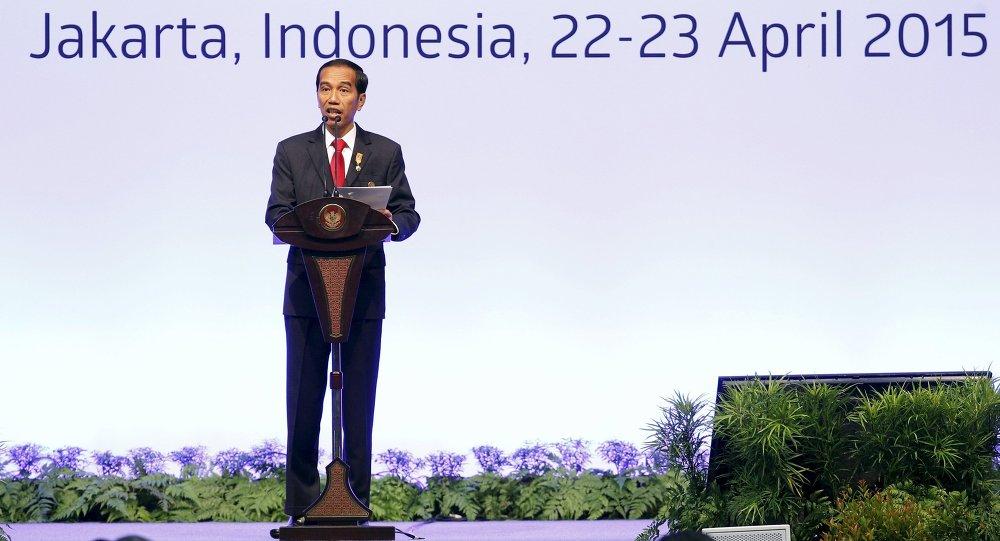 الرئيس الإندونيسي في افتتاح قمة بلدان آسيا وأفريقيا في جاكرتا