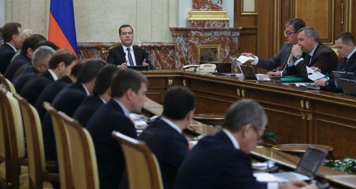 الحكومة الروسية في اجتماعها