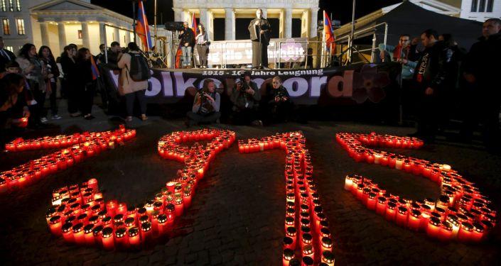 مسيرة تكريم ذكرى الأرمن ضحايا مذبحة عام 1915 في برلين