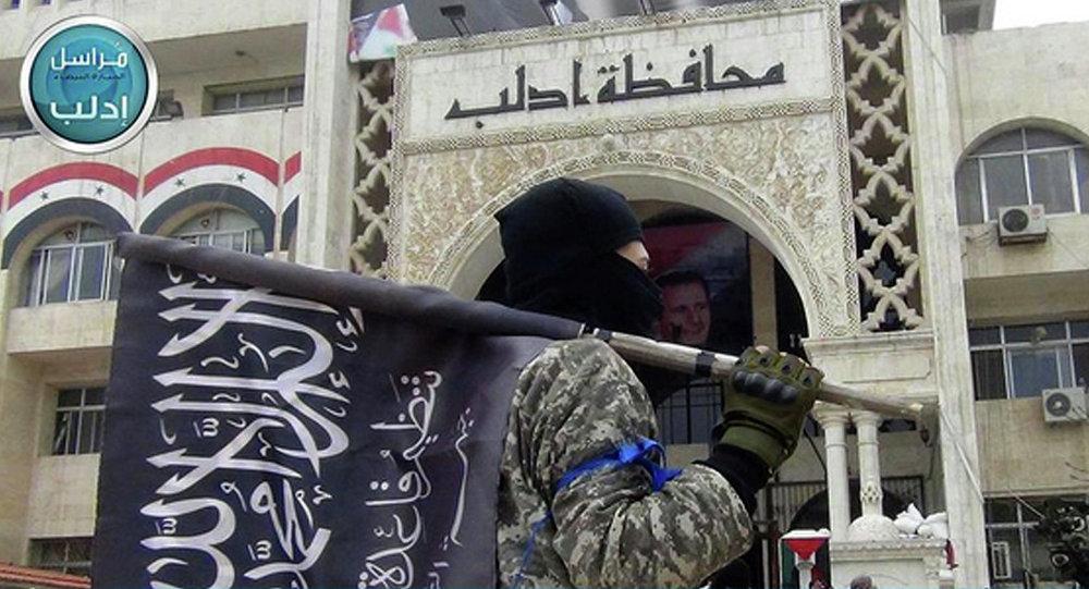 مقاتل من جبهة النصرة في إدلب، شمال سوريا