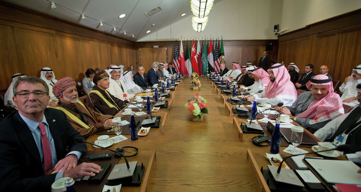 أوباما في اجتماع مع زعماء خليجيين في كامب ديفيد