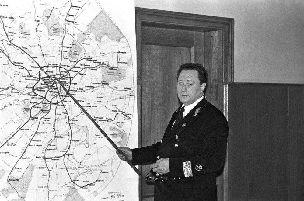 مدير مترو الانفاق في موسكو يوري سينيوشكين