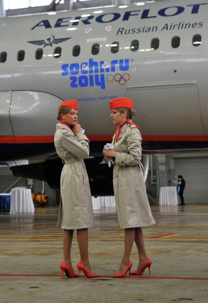 عرض تقديم طائرة شركة إيرو فلوت الروسية
