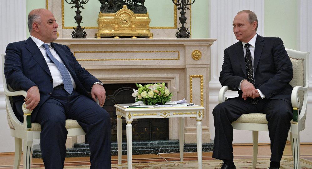 الرئيس الروسي فلاديمير بوتين يستقبل رئيس الوزراء العراقي حيدر العبادي