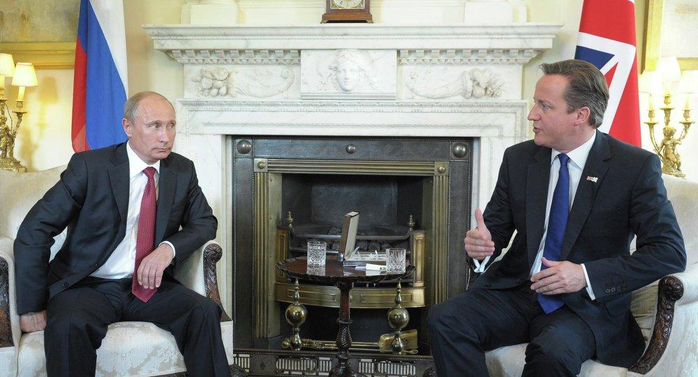 الرئيس الروسي فلاديمير بوتين أثناء قيامه بزيارة عمل إلى بريطانيا عام 2012