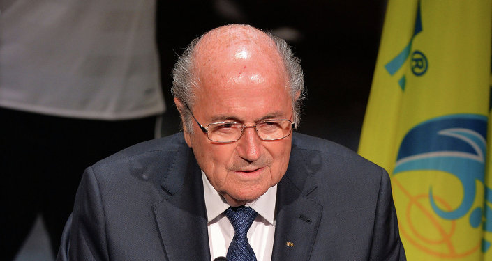 رئيس الاتحاد الدولي لكرة القدم فيفا، جوزيف بلاتر