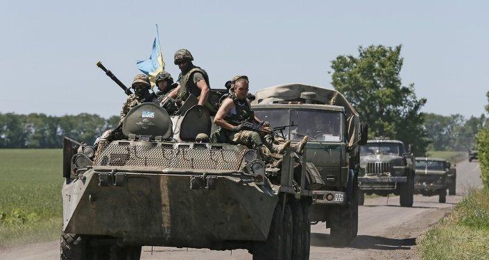 قوات أوكرانية في دونباس