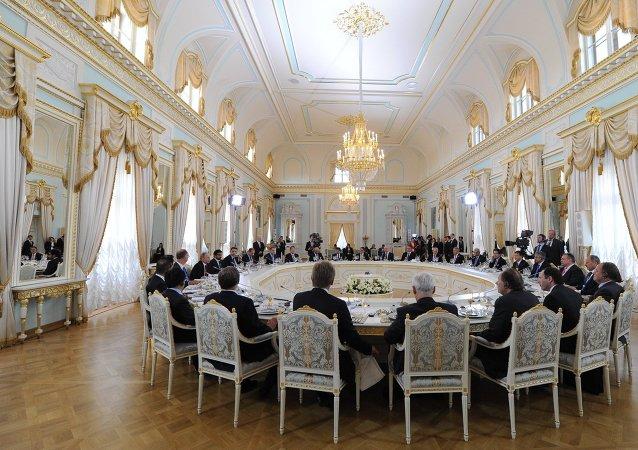 اجتماع منتدى بطرسبورغ الاقتصادي الدولي (صورة ارشيفية)