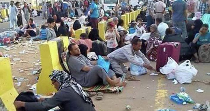 منفذ الوديعة اليمني- محافظة حضرموت على الحدود السعودية