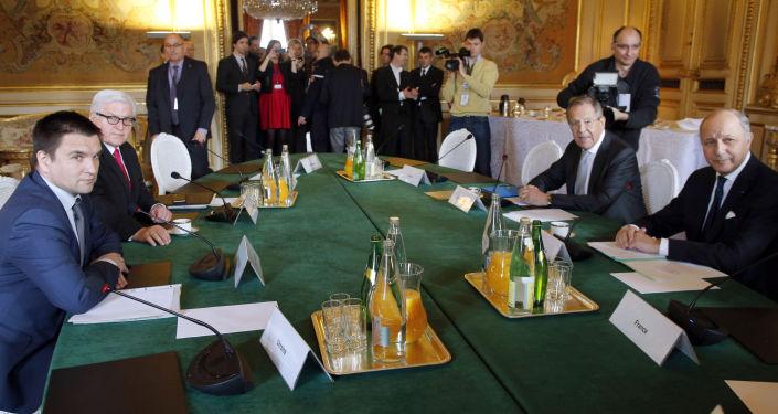 اجتماع وزراء خارجية رباعية النورماندي