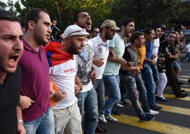 احتجاجات في أرمينيا