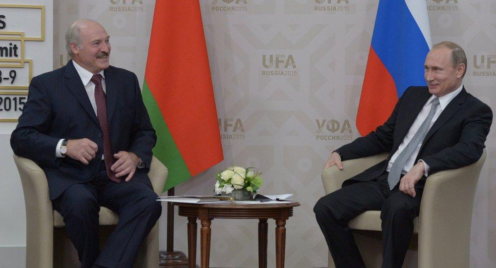 الرئيس الروسي فلاديمير بوتين والرئيس البيلاروسي الكسندر لوكاشينكو