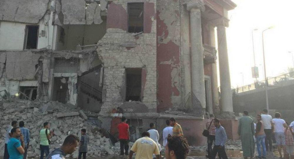 انفجار قرب القنصلية الإيطالية في القاهرة