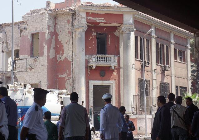تفجير فى محيط مبني القنصلية الإيطالية وسط القاهرة