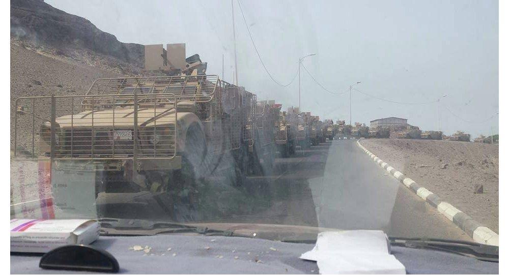 دخول قوات عسكرية موالية لهادي لعدن
