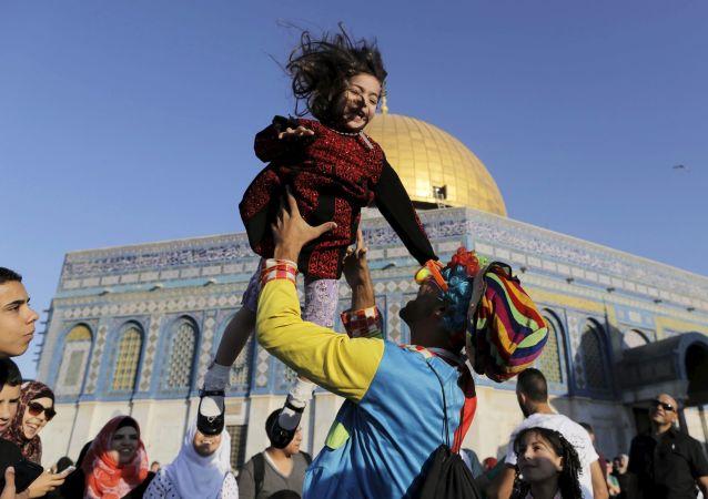 الإحتفال بعيد الفطر فى القدس الشريف