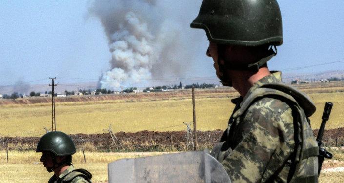 بلدة سروج التركية على الحدود مع سوريا