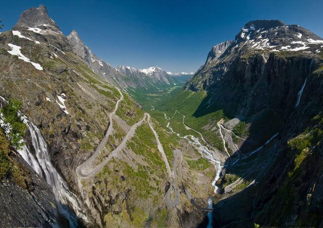 الطريق الدرج في النرويج